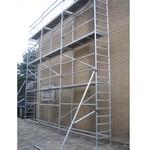 ASC Echafaudage de facade 0,75 m x 7,50 m x 10,00 m