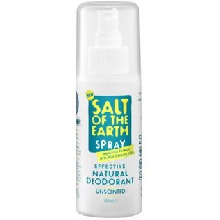 Bioforce Uk Salt Of The Earth Deodorant Unscented Spray, 100ml