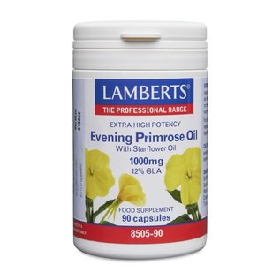 Lamberts Extra High Potency Evening Primrose Oil 90 Capsules With Starflower Oil 1000mg (12% Gla)