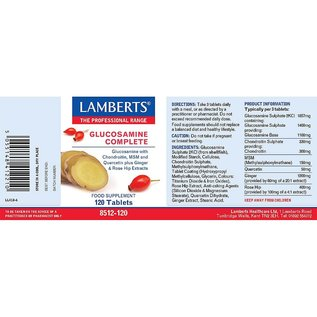 Lamberts Glucosamine Complete (Glucosamine With Chondrotin, MSM and Quercetin Plus Ginger & Rose Hip Extracts) 120 Tablets