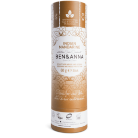 Ben And Anna Natural Soda Deodorant Paper Tubes - Indian Mandarine