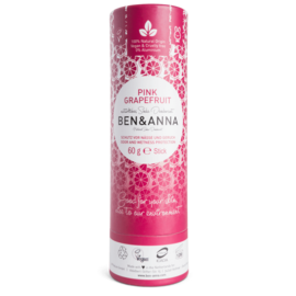 Ben And Anna Natural Soda Deodorant Paper Tubes - Pink Grapefruit