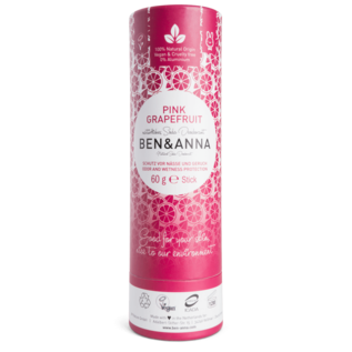 Ben And Anna Natural Soda Deodorant Paper Tubes - Pink Grapefruit