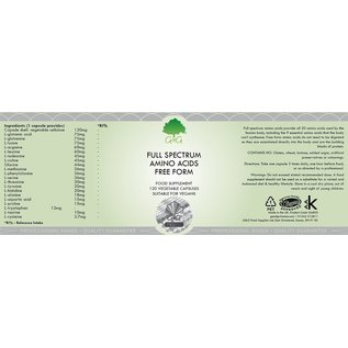 G&G Vitamins & Minerals Full Spectrum Amino Acids 120's