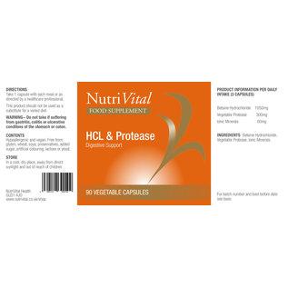 Nutrivital Nutri Vital HCL and ProTease 90s