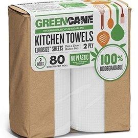 Greencane Greencane/P 2 Ply Kitchen Towels(80 Sheets) [2 Pack]
