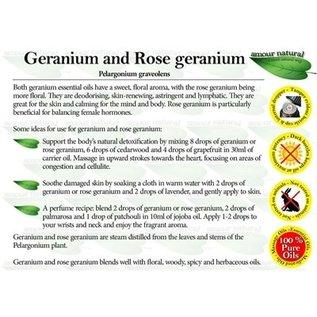 Amour Natural Amour Natural Essential Oils Geranium 10ml Not Organic