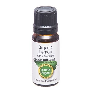 Amour Natural Amour Natural Essential Oils Lemon 10ml Organic