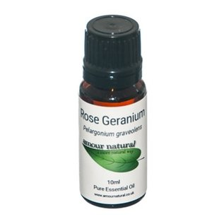 Amour Natural Amour Natural Essential Oils Rose Geranium 10ml Not Organic