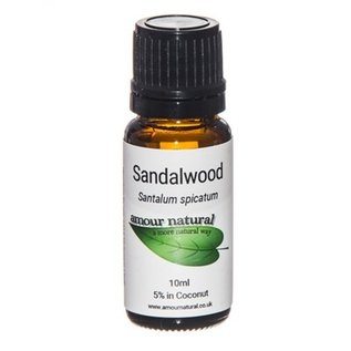 Amour Natural Amour Natural Essential Oils Sandalwood 5% dilution 10ml Not Organic