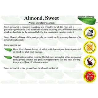 Amour Natural Amour Natural Essential Oils Sweet Almond Oil 100ml Not Organic