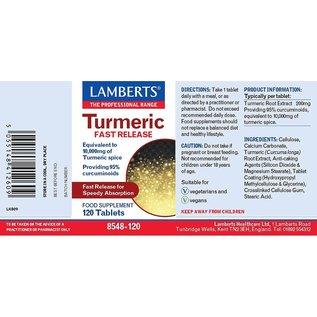 Lamberts Lamberts Turmeric 20,000mg (Providing 95% Curcuminoids) 60 Tablets