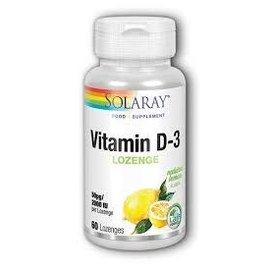 Solaray Solaray Vitamin D-3 Lozenge (lemon)