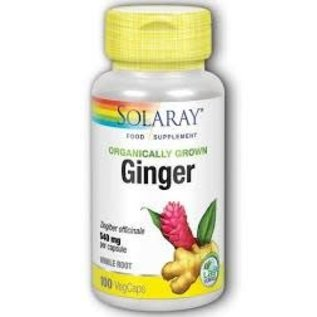 Solaray Organic Ginger Root 540mg  (100) caps