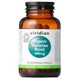 Viridian Viridian organic valerian root 400mg 60 capsules