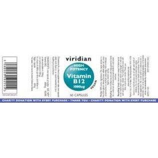 Viridian Viridian High Potency B12 1000ug 60 caps