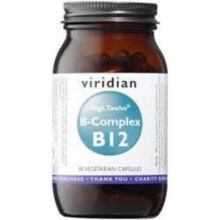 Viridian High Twelve Vitamin B12 With B-Complex Veg Caps (90)
