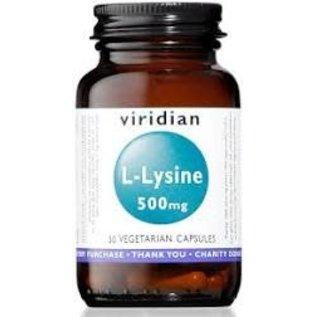Viridian L-Lysine 500mg Veg Caps (30)