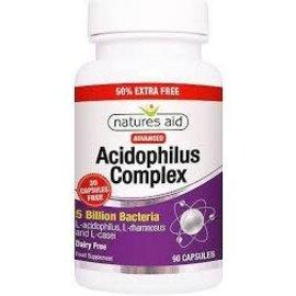 Nature's Aid Acidophilus Complex 5 Billion (60 capsules + extra 30 free)