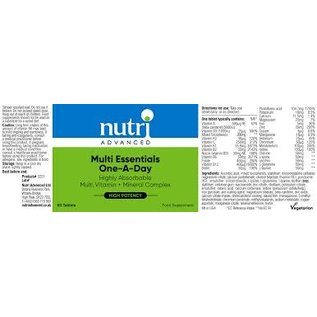 Nutri Advanced Nutri Advanced Multi Essentials One-A-Day 60's
