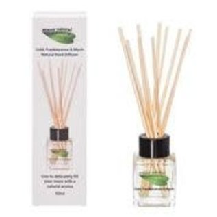 Amour Natural Reed diffuser, 50ml, Gold, frankincense and myrrh