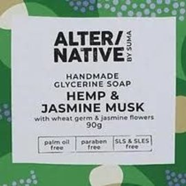 Alter/Native By Suma Glycerine Soap - Hemp & Jasmine Musk