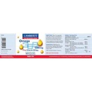Lamberts Lamberts omega 369 plus D3 1200 mg 120 caps