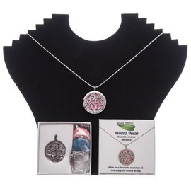 Amour Natural Aroma necklace in gift box, swirl, style 3