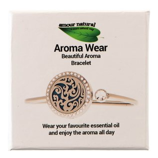 Amour Natural Aroma bracelet, swirl with crystals