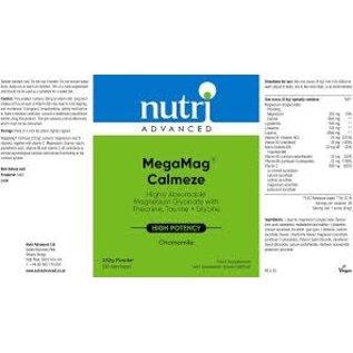 Nutri Advanced Nutri Advanced Megamag Calmeze - Chamomile 270g