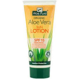 Aloe Pura Organic Aloe Vera Sun Lotion SPF15 with free aloe vera gel