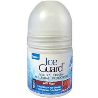 Ice Guard Natural Crystal Rollerball Deodorant with Rose