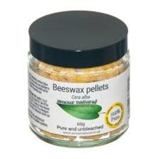 Amour Natural Beeswax Pellets 60g glass jar