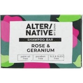 Alter/Native By Suma Rose & Geranium Shampoo Bar 95g