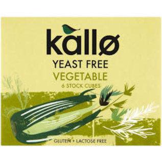Kallo Kallo Yeast Free Vegetable Stock Cubes 6