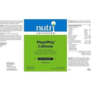 Nutri Advanced Nutri Advanced Megamag Calmeze - Raspberry 270g