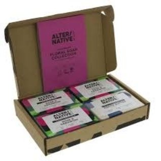 Alter/Native Handmade Floral Soap collection 4 x 90g