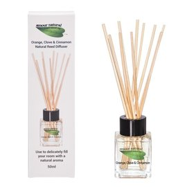 Amour Natural Orange Clove and Cinnamon Reed diffuser