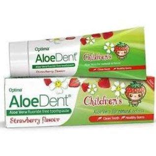 AloeDent Children's strawberry fluoride free toothpaste