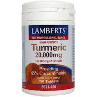 Lamberts Lamberts turmeric 20,000mg (Providing 95% Curcuminoids)  120 Tablets