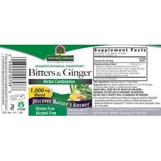 Nature's Answer Bitters and Ginger 60ml Tincture