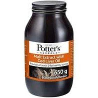 Potters Malt extract butterscotch with vit D & cod liver oil