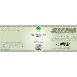 G&G Vitamins & Minerals G&G Folic Acid 5-MTHF 400ug 120Caps