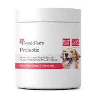 Peak pets Pet probiotic. 100 servings