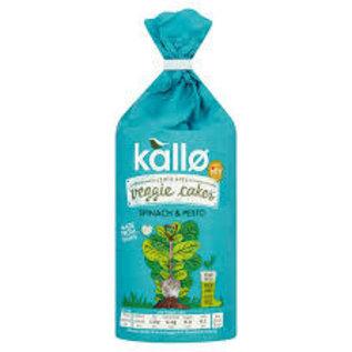 Kallo Kallo Lentil & Pea Spinach & Pesto Veggie Cakes GF Vegan 122g