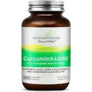 Good Health Naturally Good health naturally Curcumin x4000 180 caps