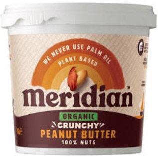 Meridian Meridian peanut butter crunchy no salt organic 1k