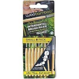 woobamboo Woobamboo Small Interdental Brush Picks 8 Pack