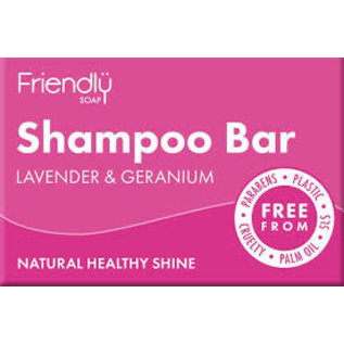 Friendly Soap Friendly shampoo bar Lavender& Geranium