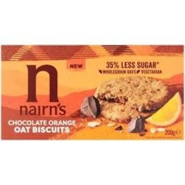 Nairns Nairns Chocolate Orange Oat Biscuits  200g